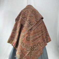 Antigüedades: ANTIGUO MANTÓN DE OCHO PUNTAS. CAPUCHA. Lote 227697795