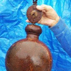 Antigüedades: ANTIGUA CANTIMPLORA O VASIJA DE HIERRO SIGLO.. CREO QUE FINALES AÑOS 1800. Lote 227709705