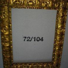 Antigüedades: MARCO ANTIGUO EN MADERA AL ORO FINO ( 52 X 43 CTMS) INTERIOR 40 X 30,5. Lote 227719270