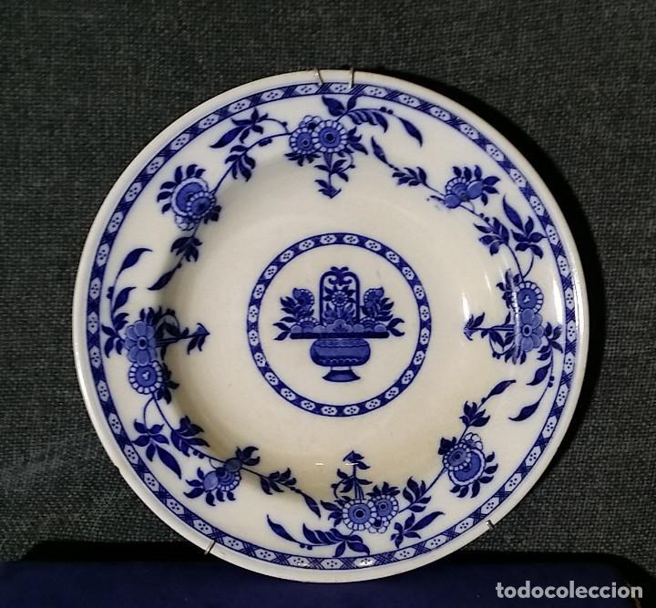 ANTIGUO PLATO DE DELFT MINTON 24,4 DIAMETRO (Antigüedades - Porcelana y Cerámica - Holandesa - Delft)