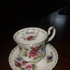Antigüedades: TAZA DE PORCELANA ROYAL ALBERT MARCH EN PERFECTO ESTADO. Lote 227809110