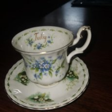 Antigüedades: TAZA DE PORCELANA ROYAL ALBERT JULY EN PERFECTO ESTADO. Lote 227810531