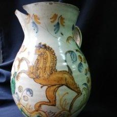 Antigüedades: JARRA DE BOLA EN CERÁMICA DE PUENTE DEL ARZOBISPO PRINCIPIOS DEL S. XIX. Lote 227881115