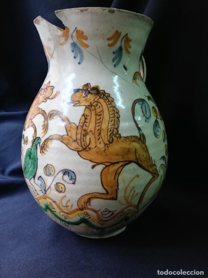 Antigüedades: JARRA DE BOLA EN CERÁMICA DE PUENTE DEL ARZOBISPO PRINCIPIOS DEL S. XIX - Foto 2 - 227881115