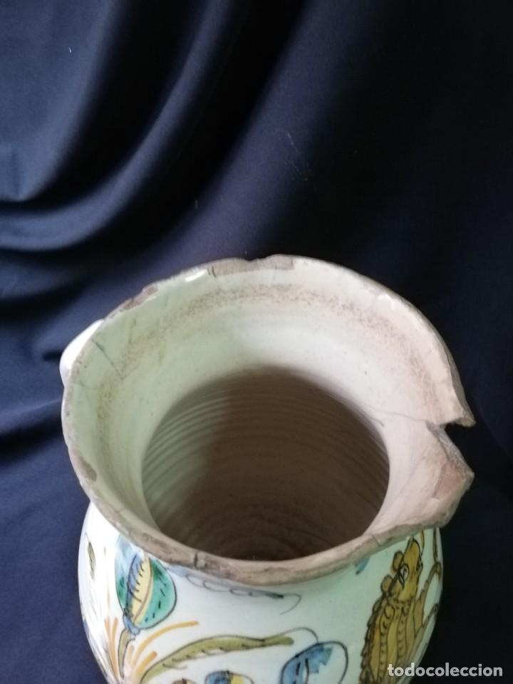 Antigüedades: JARRA DE BOLA EN CERÁMICA DE PUENTE DEL ARZOBISPO PRINCIPIOS DEL S. XIX - Foto 4 - 227881115