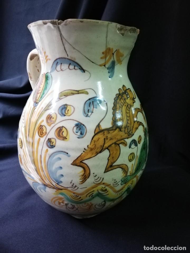 Antigüedades: JARRA DE BOLA EN CERÁMICA DE PUENTE DEL ARZOBISPO PRINCIPIOS DEL S. XIX - Foto 5 - 227881115