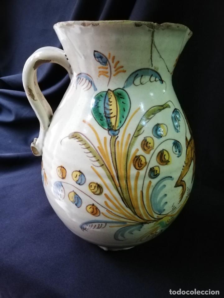 Antigüedades: JARRA DE BOLA EN CERÁMICA DE PUENTE DEL ARZOBISPO PRINCIPIOS DEL S. XIX - Foto 7 - 227881115
