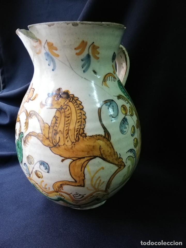 Antigüedades: JARRA DE BOLA EN CERÁMICA DE PUENTE DEL ARZOBISPO PRINCIPIOS DEL S. XIX - Foto 12 - 227881115