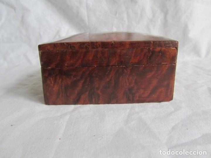 Antigüedades: Caja joyero de madera de raiz - Foto 3 - 227885720