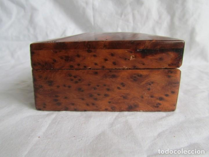 Antigüedades: Caja joyero de madera de raiz - Foto 4 - 227885720