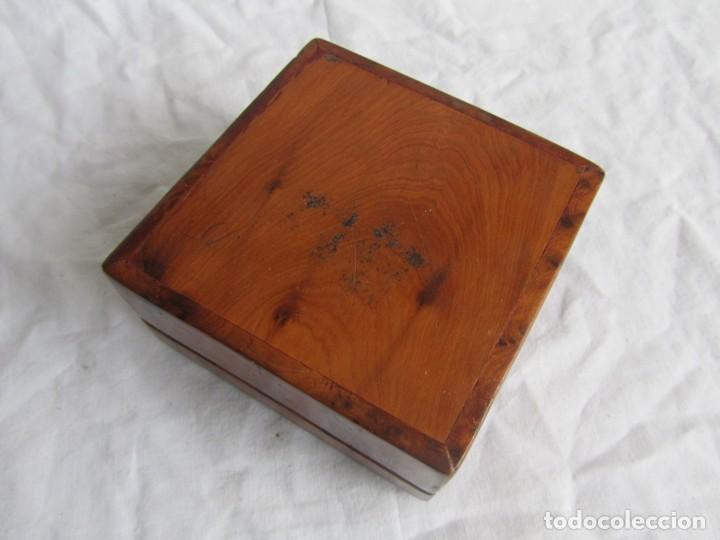 Antigüedades: Caja joyero de madera de raiz - Foto 7 - 227885720