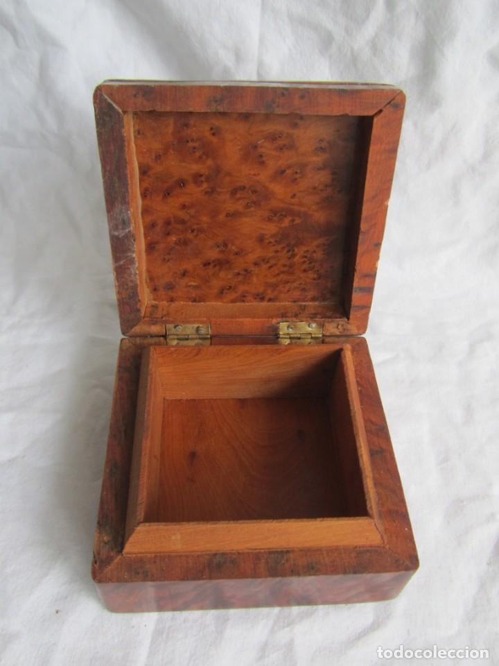 Antigüedades: Caja joyero de madera de raiz - Foto 8 - 227885720