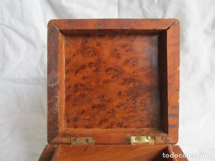 Antigüedades: Caja joyero de madera de raiz - Foto 10 - 227885720
