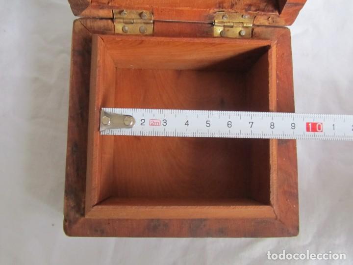 Antigüedades: Caja joyero de madera de raiz - Foto 12 - 227885720