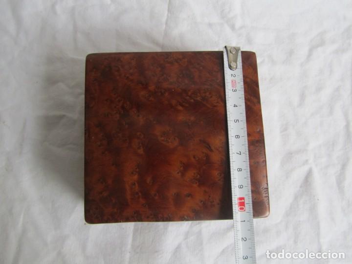 Antigüedades: Caja joyero de madera de raiz - Foto 13 - 227885720