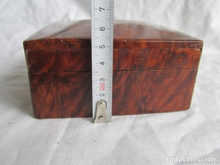 Antigüedades: Caja joyero de madera de raiz - Foto 14 - 227885720