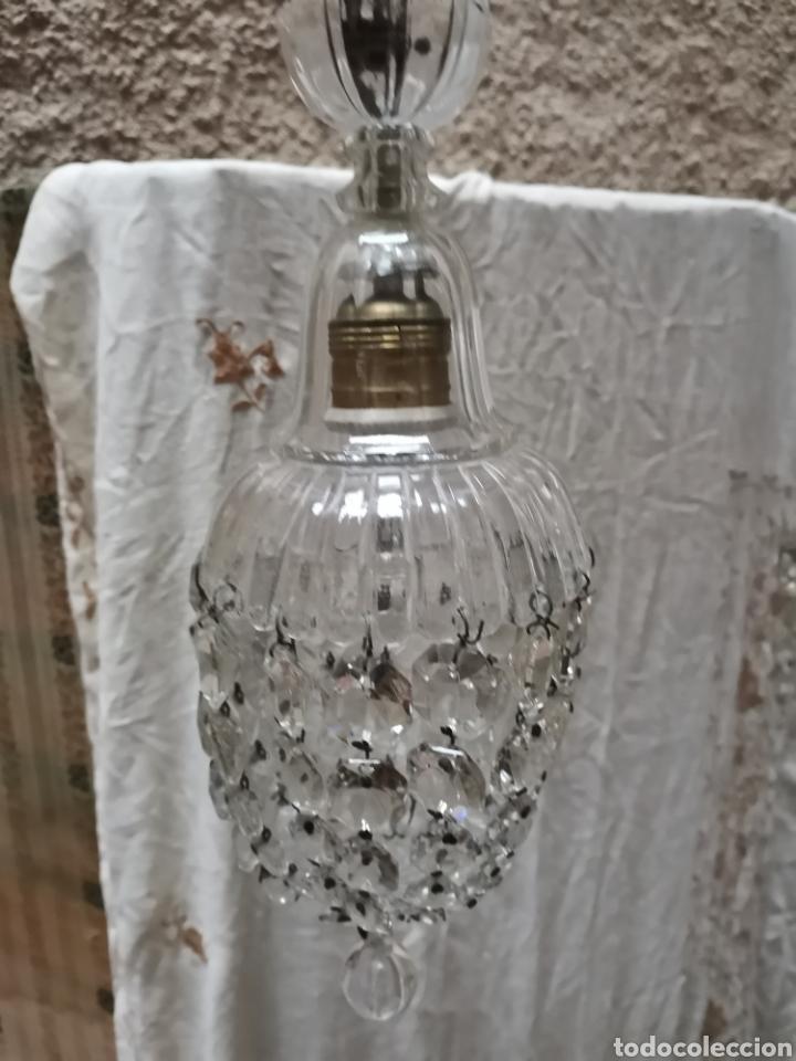 Antigüedades: 2 lamparas de cuentas de cristal tallado finales del xix - Foto 2 - 227900295