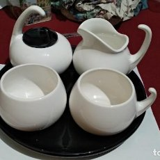 Antigüedades: CERÁMICA JUEGO DE CAFÉ O TÉ PORCELANA DE CERBOL - SIN USAR. Lote 227922140