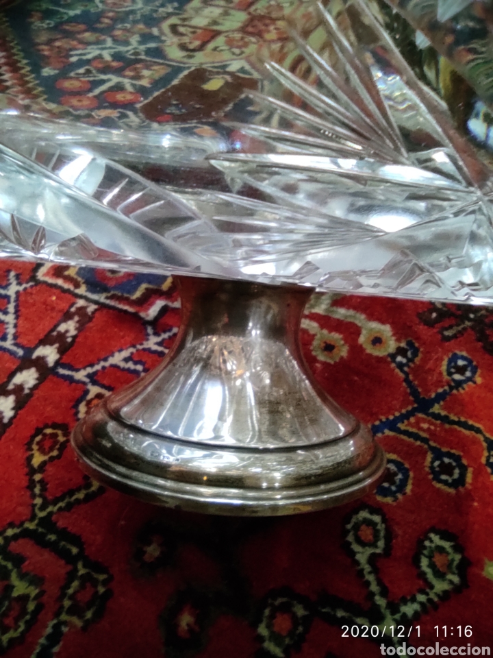Antigüedades: Centro cristal y plata - Foto 2 - 227959308