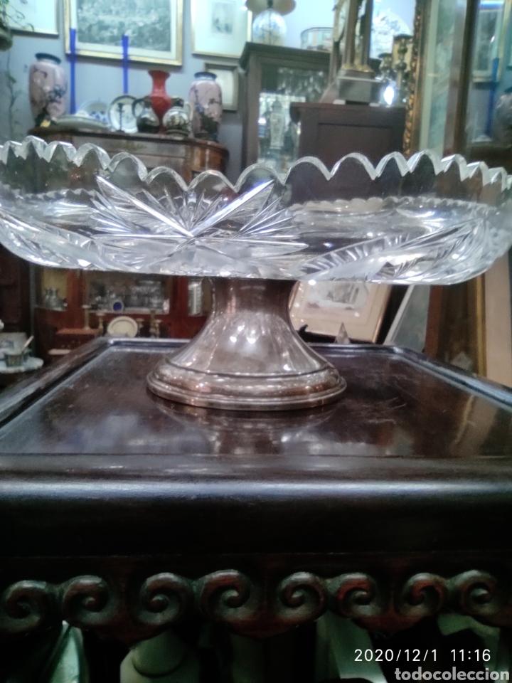 CENTRO CRISTAL Y PLATA (Antigüedades - Cristal y Vidrio - Bohemia)