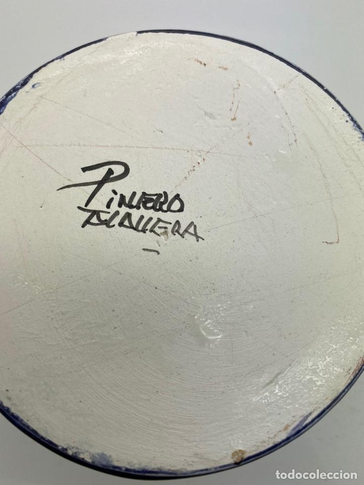Antigüedades: Jarra agua/ vino de cerámica pintada a mano Talavera - Foto 6 - 227964730