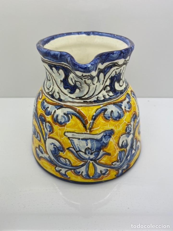 JARRA AGUA/ VINO DE CERÁMICA PINTADA A MANO TALAVERA (Antigüedades - Porcelanas y Cerámicas - Talavera)