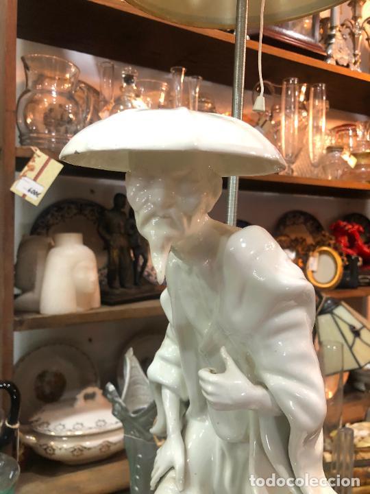 Antigüedades: FANTASTICA LAMPARA MANISES ORIENTAL CHINO - MEDIDA TOTAL 78 CM - FUNCIONANDO - Foto 13 - 227974492