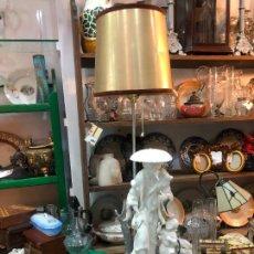 Antigüedades: FANTASTICA LAMPARA MANISES ORIENTAL CHINO - MEDIDA TOTAL 78 CM - FUNCIONANDO. Lote 227974492