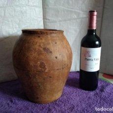 Antigüedades: ANTIGUA VASIJA - ORZA DE BARRO (ZONA DE LA RIOJA). Lote 227977105