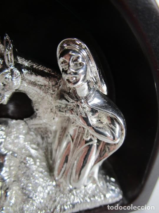 Antigüedades: Pequeño Belén - Nacimiento Miniatura - Plata de Ley 925º - Marca De Marco - Foto 3 - 227999270