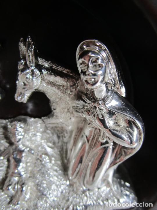 Antigüedades: Pequeño Belén - Nacimiento Miniatura - Plata de Ley 925º - Marca De Marco - Foto 4 - 227999270