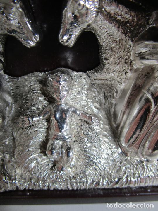 Antigüedades: Pequeño Belén - Nacimiento Miniatura - Plata de Ley 925º - Marca De Marco - Foto 5 - 227999270