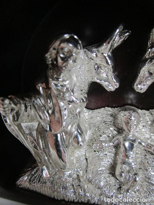 Antigüedades: Pequeño Belén - Nacimiento Miniatura - Plata de Ley 925º - Marca De Marco - Foto 6 - 227999270