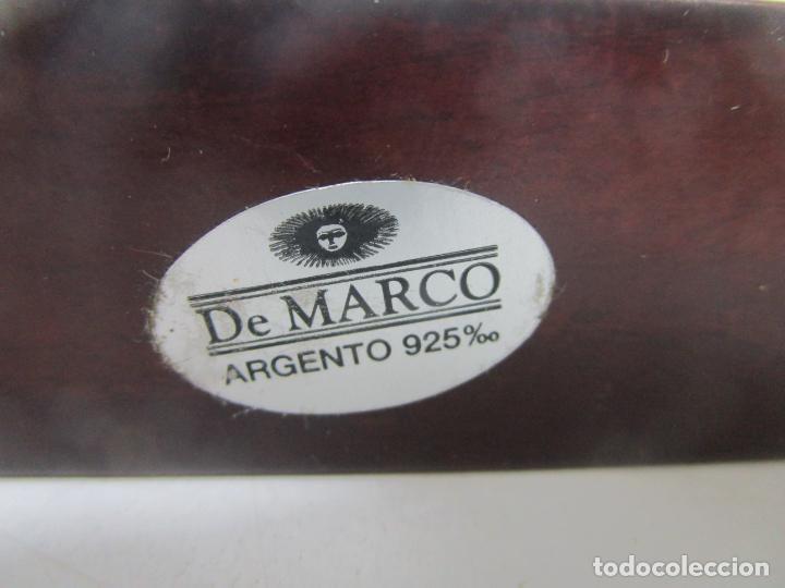 Antigüedades: Pequeño Belén - Nacimiento Miniatura - Plata de Ley 925º - Marca De Marco - Foto 10 - 227999270