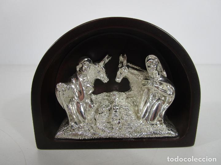 Antigüedades: Pequeño Belén - Nacimiento Miniatura - Plata de Ley 925º - Marca De Marco - Foto 13 - 227999270