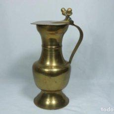 Antigüedades: ANTIGUA JARRA DE LATÓN Y COBRE AMARILLO FABRICADA EN INDIA. Lote 228016155