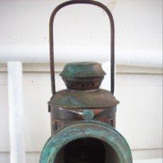 Antiquités: ANTIGUO FAROL FERROVIARIO DE LOCOMOTORA. Lote 228029495