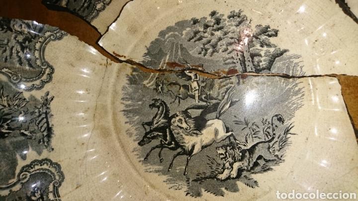 Antigüedades: Antigua fuente de cerámica esmaltada, con sello, fabricade Cartagena, ideal restauradores - Foto 10 - 228040675
