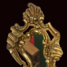 Antigüedades: ESPEJO, CORNUCOPIA DE NOGAL DORADA AL ORO FINO. S.XVIII.54X32 CM. Lote 228046965