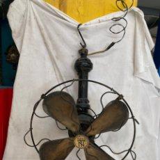 Antigüedades: ANTIGUO Y GRANDE VENTILADOR TECHO FUNCIONANDO!. Lote 228048475