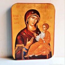 Antigüedades: RETABLO RELIGIOSO MADERA - 16 X 22.CM. Lote 228063035
