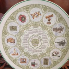 Antigüedades: PLATO CALENDARIO DE PORCELANA INGLESA WEDGWOOD DEL AÑO 2001, MILLENNIUM THE SCIENCES. 26 CMS. Lote 228071125