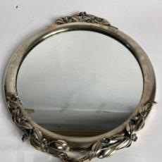 Antiquités: ESPEJO DE PLATA MODELO BAGUÉS. S.XX.. Lote 228089740