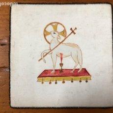Antigüedades: ANTIGUO CUBRE CÁLIZ. Lote 228101075