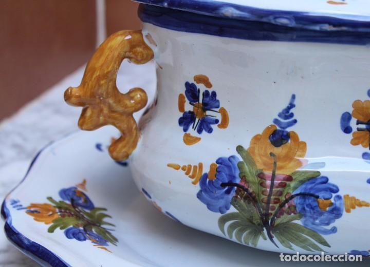 Antigüedades: GRAN SOPERA Y BANDEJA DE TALAVERA. - Foto 4 - 228104295