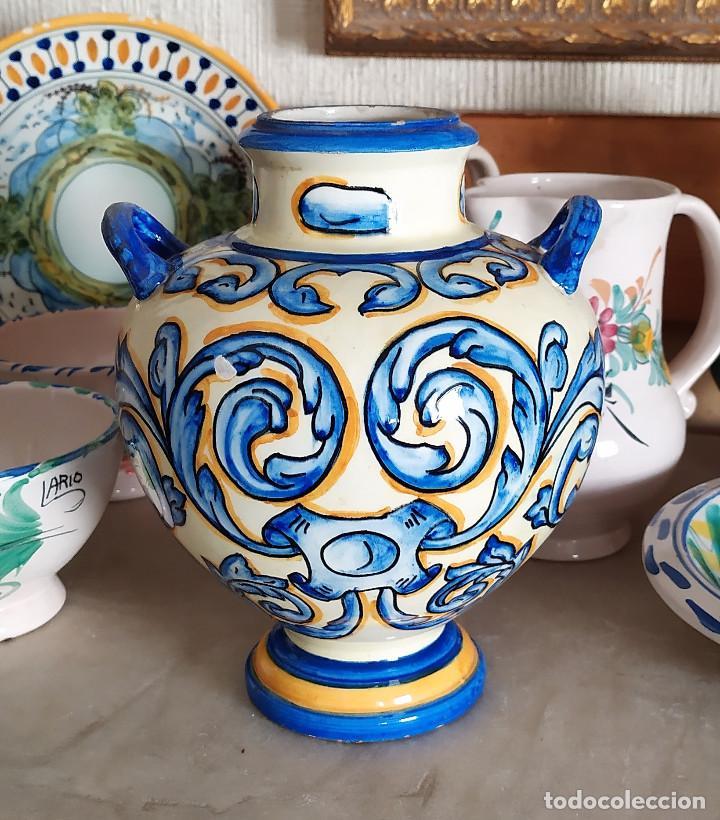 JARRON DE CERAMICA DE TALAVERA (Antigüedades - Porcelanas y Cerámicas - Talavera)