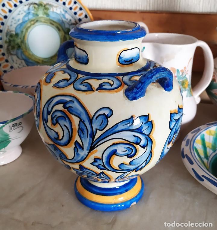 Antigüedades: Jarron de ceramica de Talavera - Foto 2 - 228136195