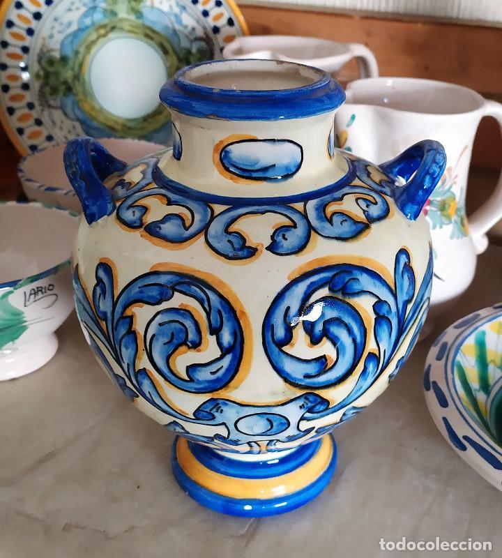 Antigüedades: Jarron de ceramica de Talavera - Foto 3 - 228136195