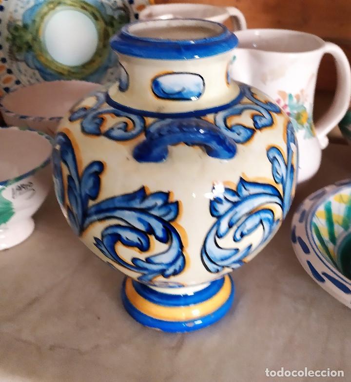 Antigüedades: Jarron de ceramica de Talavera - Foto 4 - 228136195