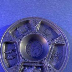 Antigüedades: CENICERO METAL PAIS MALTA. Lote 228157990